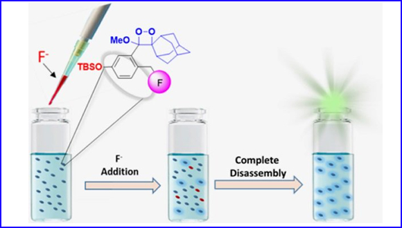 Chemiluminescence Molecular Probe with Intrinsic Auto-Inductive Amplification: Incorporation of Chemiexcitation in a Quinone-Methide Elimination