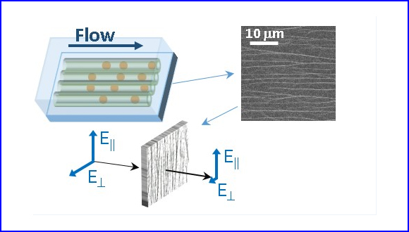 Flow-Directed Growth of Aligned Metal Nanowire Films: Toward Light-Polarizing Transparent Conductors