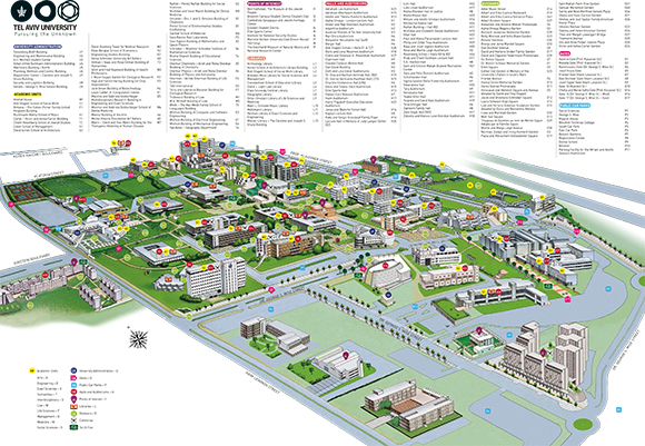 Map of Tel Aviv University Campus - Click to enlarge