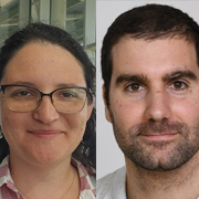 PhD students Maria Makrinich and Tamir Admon from the School of Chemistry