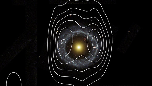 International team discovers a much larger hydrogen ring around the most perfect ring galaxy