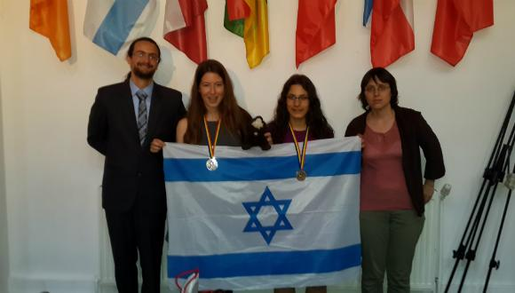 The Israeli team returns from the European Girl's Mathematical Olympiad  with two silver medals