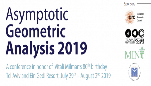 JULY 29th - AUGUST 2nd 2019, TEL AVIV & THE DEAD SEA  Asymptotic Geometric Analysis 2019  Celebrating Vitali Milman's 80th birthday.