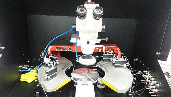 A microscope for studying solid-state particle detectors